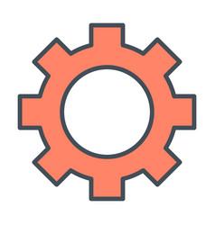 Gear wheel icon options preferences symbol vector