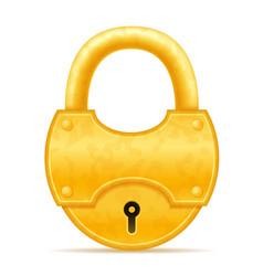 golden vintage lock stock vector image