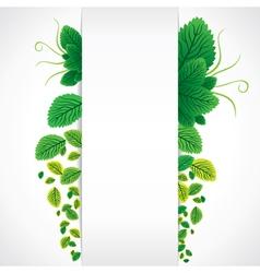 green leaf banner vector image vector image