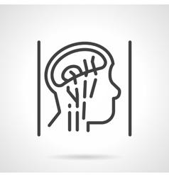 Head anatomy simple line icon vector