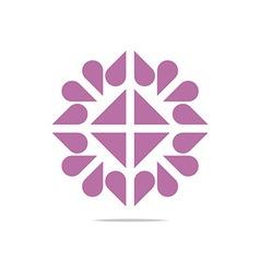Heart logo abstract design business vector