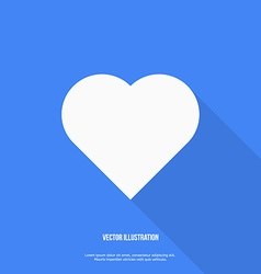 Heart web icon Flat design vector image