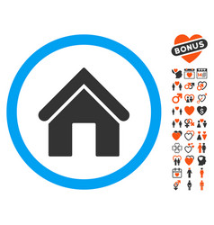 Home icon with dating bonus vector