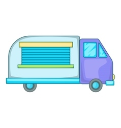 Minivan family car icon cartoon style vector