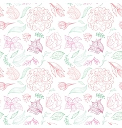 Outline Floral Pattern vector image vector image