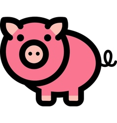 Pig logo vector image vector image
