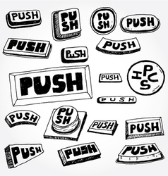 push buttons vector image