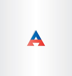 red blue letter a triangle logotype symbol vector image