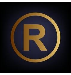 Registered trademark sign vector