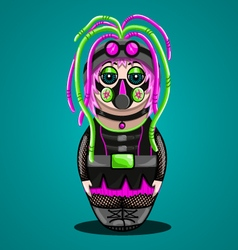 Russian doll a cyber goth vector