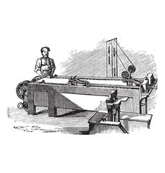 Spinneret machine vintage engraving vector image