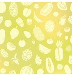 Tropic fruit background vector image