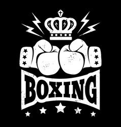 vintage logo for boxing vector image vector image