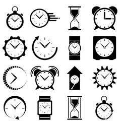 watch icon clock logo vector image