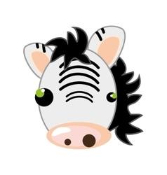 Zebra animal cartoon vector