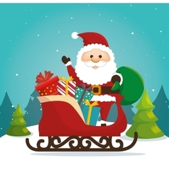 Happy merry christmas santa claus character vector