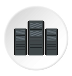 System blocks of computers icon flat style vector