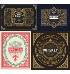 Set Whiskey labes vector image