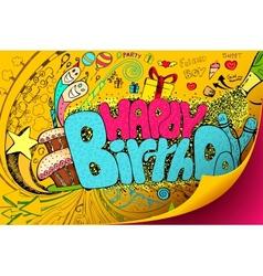 Happy birthday doodle vector