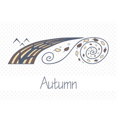 Abstract picture with season autumn vector