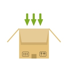 Opened cardboard package box vector