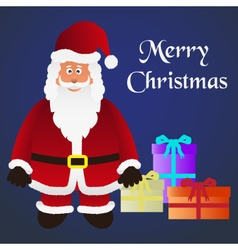Colorful cartoon santa claus with red outfit and vector