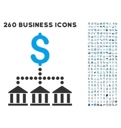 Bank scheme icon with flat set vector