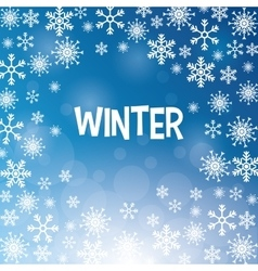 Winter design blue background flat vector