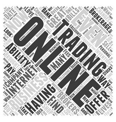 About online trading word cloud concept vector