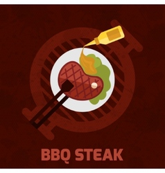 Bbq steak poster vector