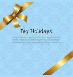 Big holidays promo poster text decorated vector