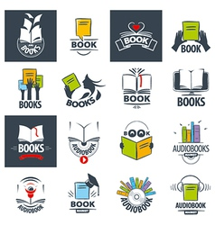 biggest collection of logos books vector image