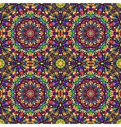 Bright geometric seamless kaleidoscope pattern vector