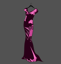 couture dress vector image vector image