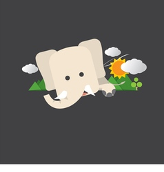 Cute Elephant Portrait vector image