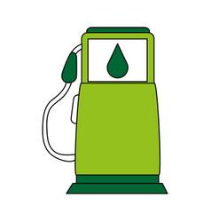 eco fuel gas station vector image