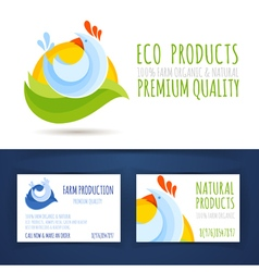 Farm eco production branding style vector image vector image
