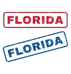 Florida rubber stamps vector