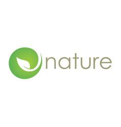 green nature abtsract logo vector image