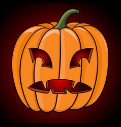 Halloween pumpkin hand drawn colored sketch vector