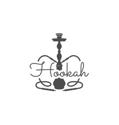 Hookah relax label badge vintage shisha logo vector
