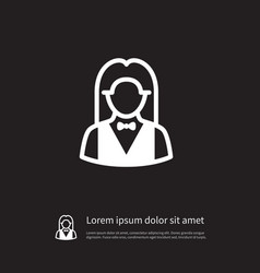 Isolated girl icon croupier element can be vector