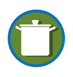 Kitchen pot utensil icon vector