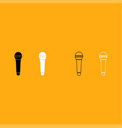 microphone it is white icon vector image vector image