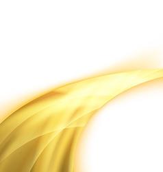 Orange power swoosh ray wave glare vector image vector image
