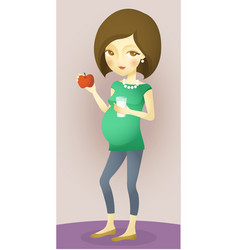 Pregnancy nutrition vector