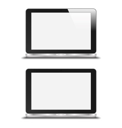 Realistic Notebook With Blank Screen With And vector image vector image