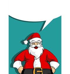 Santa greeting card with blank social bubble vector