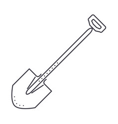 shovel line icon sign on vector image