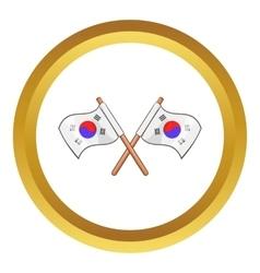 South korea flags icon vector